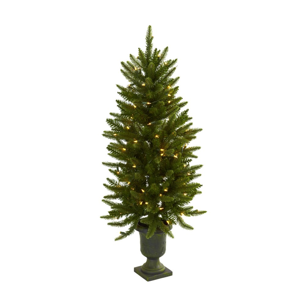 Fake Christmas Tree With Urn and Clear Lights - 4 Feet Tall