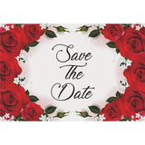 Red Roses Save The Date Postcards - 4in. X 6in. - Sophie's Favors and Gifts