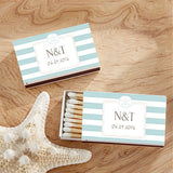 Beach Themed Personalized White and Blue Matchboxes, beach wedding ideas, beach theme weddings, beach wedding ideas, beach wedding favors, Favor Boxes