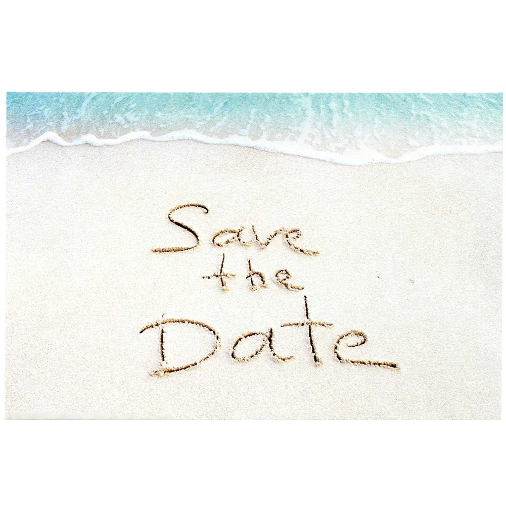Sandy Beach Save The Date Postcards - 4in. X 6in. - Sophie's Favors and Gifts
