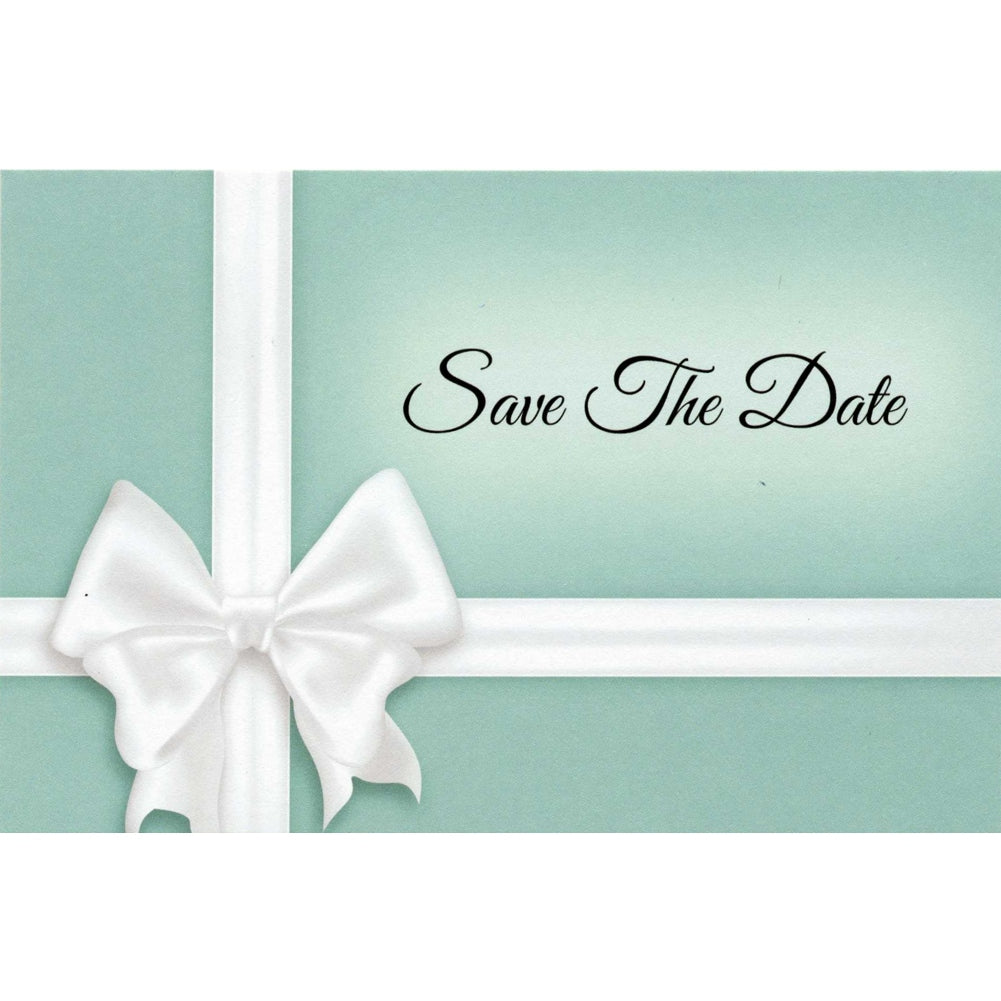 Something Blue Save The Date Postcards - 4in. X 6in. - Sophie's Favors and Gifts