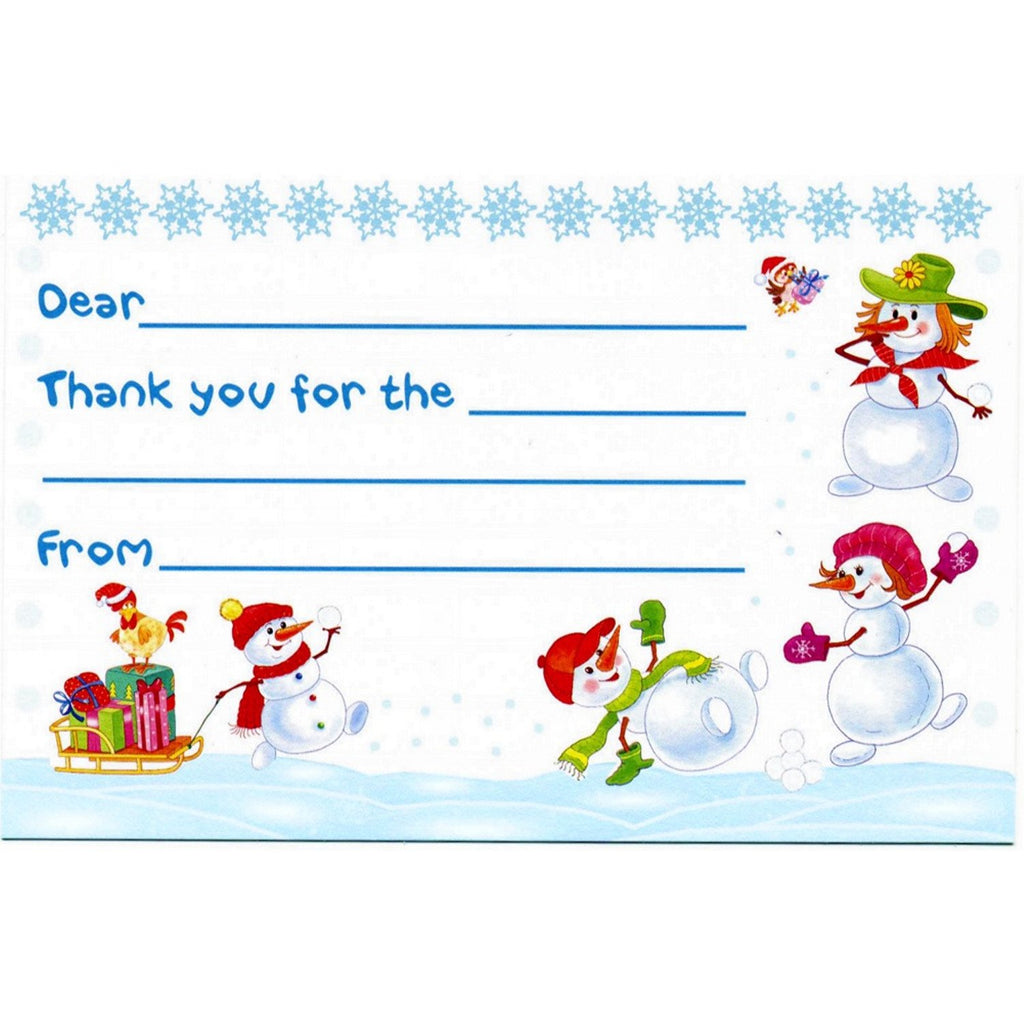 Snow Kids - Kid's Christmas Thank You Postcards - Sophie's Favors and Gifts