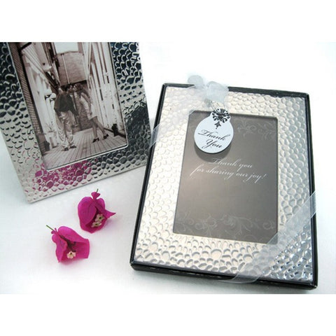 Capture Elegance Photo Frame Favor in Brilliant Hammer Finish - Sophie's Favors and Gifts
