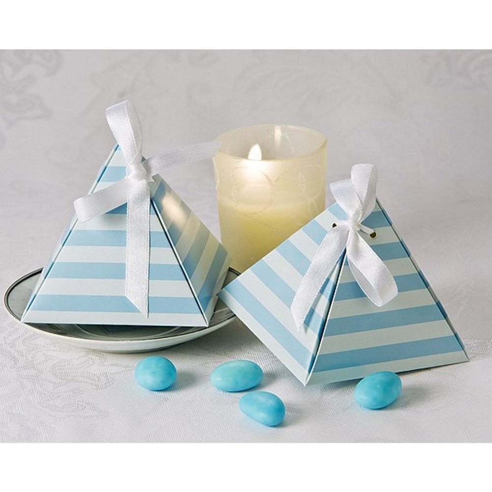 Something Blue Pyramid Favor Box - Sophie's Favors and Gifts