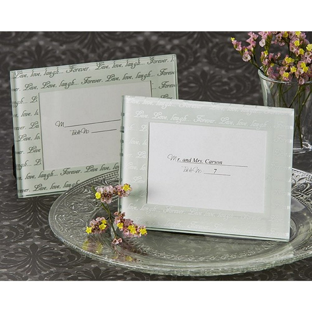 Live, Love, Laugh Frosted Mini Photo Frame / Place Card Holder - Sophie's Favors and Gifts