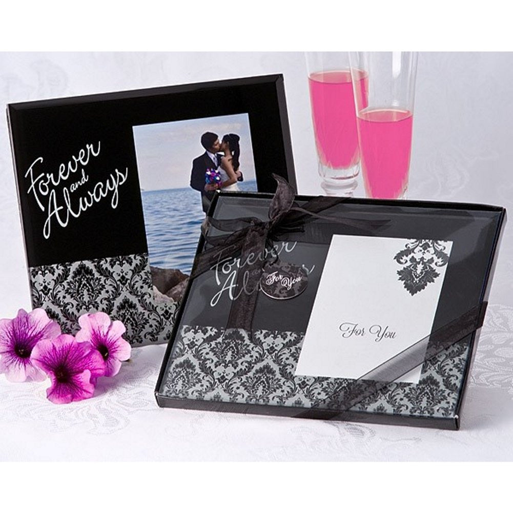 Forever and Always Damask Photo Frame Favor - Sophie's Favors and Gifts