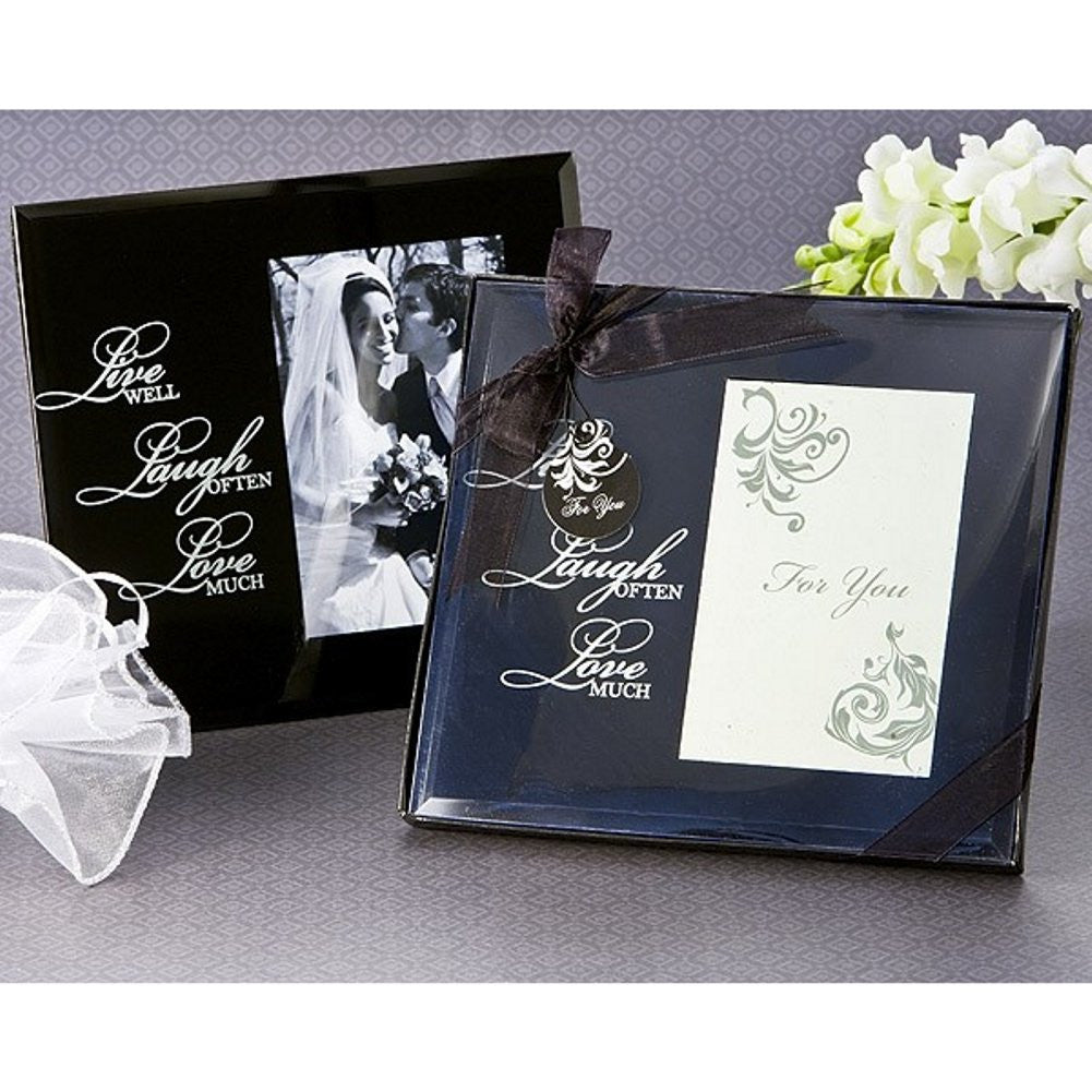 Live, Laugh, Love Glass Photo Frame Favor - Sophie's Favors and Gifts