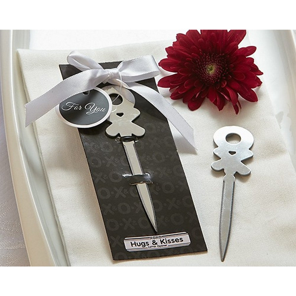 Hugs and Kisses Letter Opener, xo wedding favor, xo party favor, hugs and kisses party favor, xo theme, Practical Favors