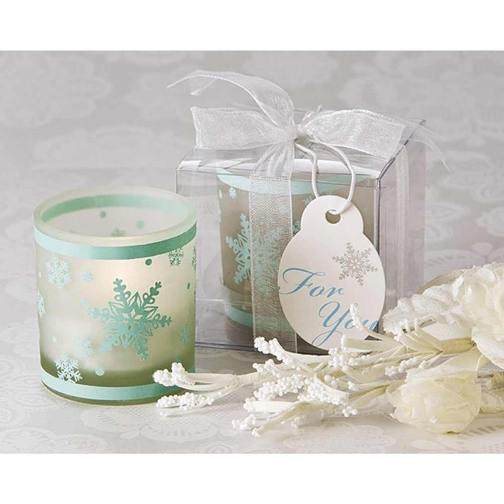Winter Lights Snowflake Votive Tea Light Candle Holder - Sophie's Favors and Gifts