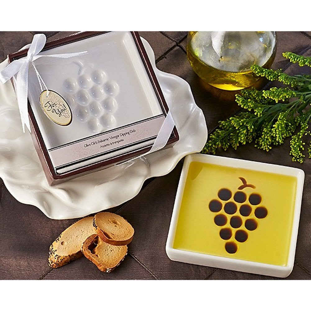 Vineyard Select Olive Oil and Balsamic Vinegar Dipping Plate - Sophie's Favors and Gifts