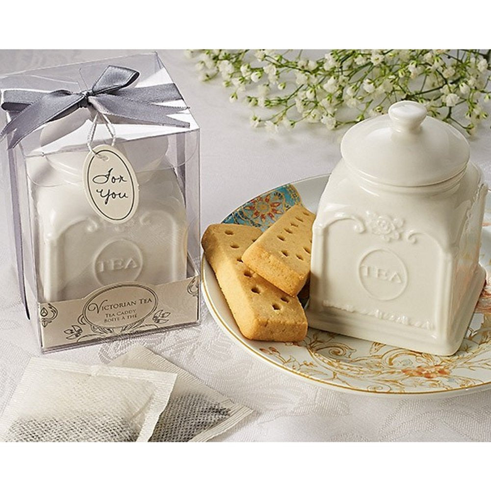 Victorian Tea Porcelain Tea Caddy - Sophie's Favors and Gifts