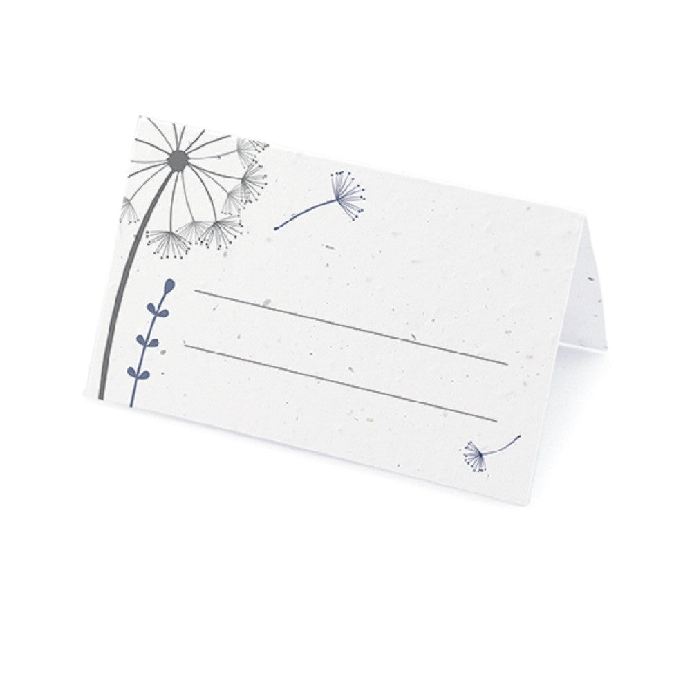 Dandelion Plantable Place Card with Wildflower Seed Blend - Navy - Sophie's Favors and Gifts