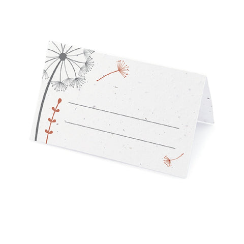 Dandelion Plantable Place Card with Wildflower Seed Blend - Red - Sophie's Favors and Gifts