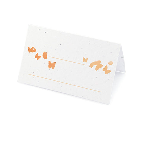 Ombre Butterfly Plantable Place Card - Nectarine - Sophie's Favors and Gifts