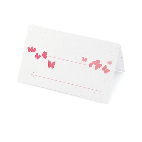 Ombre Butterfly Plantable Place Card - Pink - Sophie's Favors and Gifts