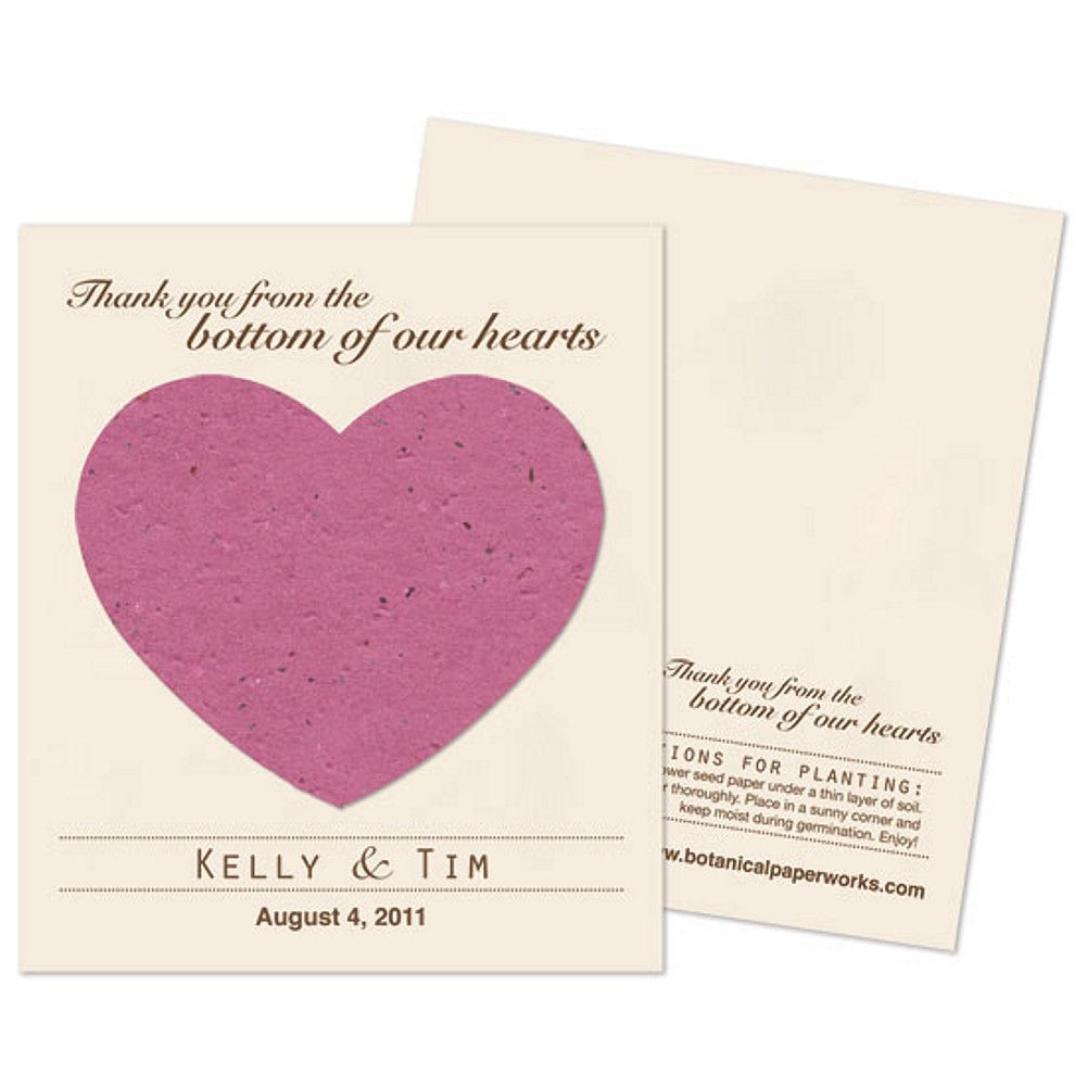 Personalized Berry Purple Plantable Heart Favors - Sophie's Favors and Gifts