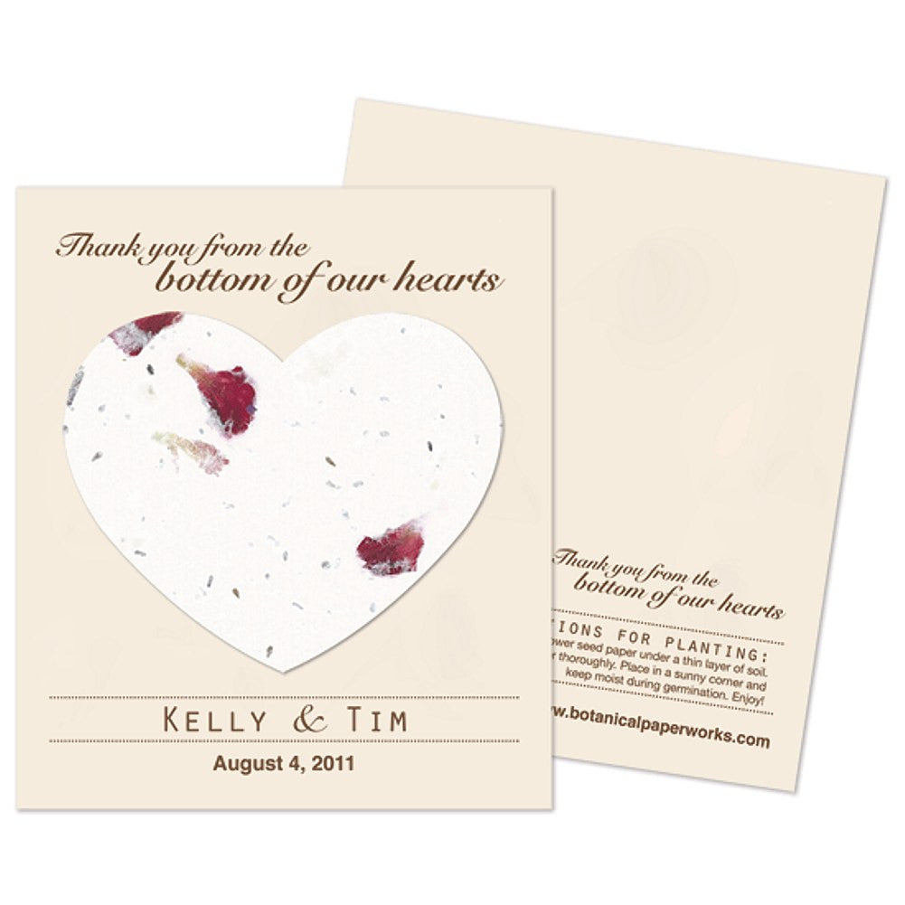 Personalized Petalled Plantable Heart Favors - Sophie's Favors and Gifts
