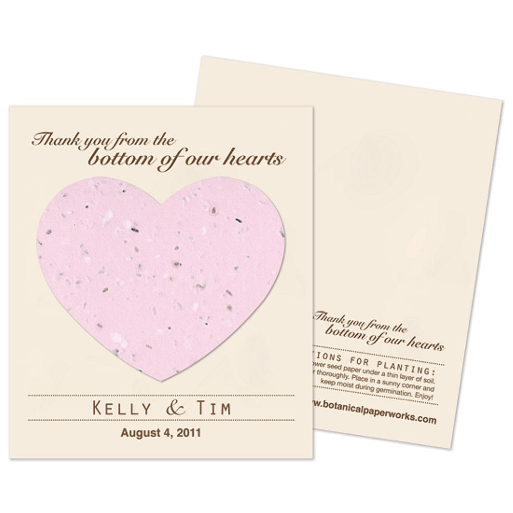 Personalized Pink Plantable Heart Favors - Sophie's Favors and Gifts