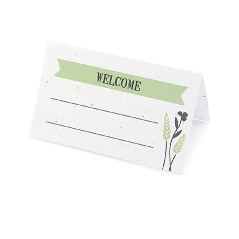 Prairie Love Seed Paper Place Cards with Wildflower Seed Blend - Green - Sophie's Favors and Gifts