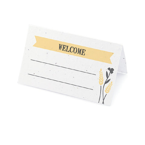 Prairie Love Seed Paper Place Cards with Wildflower Seed Blend - Yellow - Sophie's Favors and Gifts