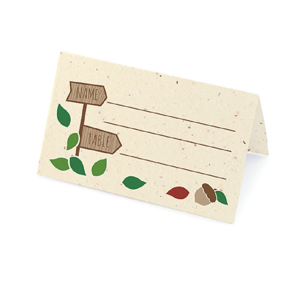 Rustic Tree Plantable Place Card with Wildflower Seed Blend - Brick Red - Sophie's Favors and Gifts
