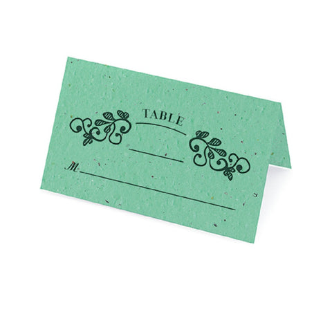 Vintage Plantable Place Cards - Aqua - Sophie's Favors and Gifts