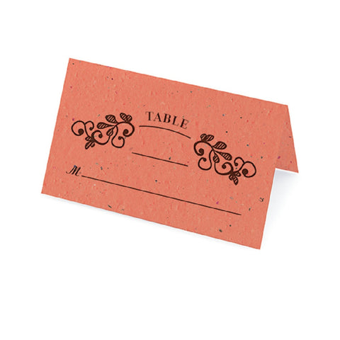 Vintage Plantable Place Cards - Coral - Sophie's Favors and Gifts