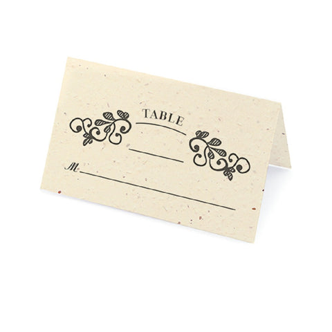Vintage Plantable Place Cards - Cream - Sophie's Favors and Gifts