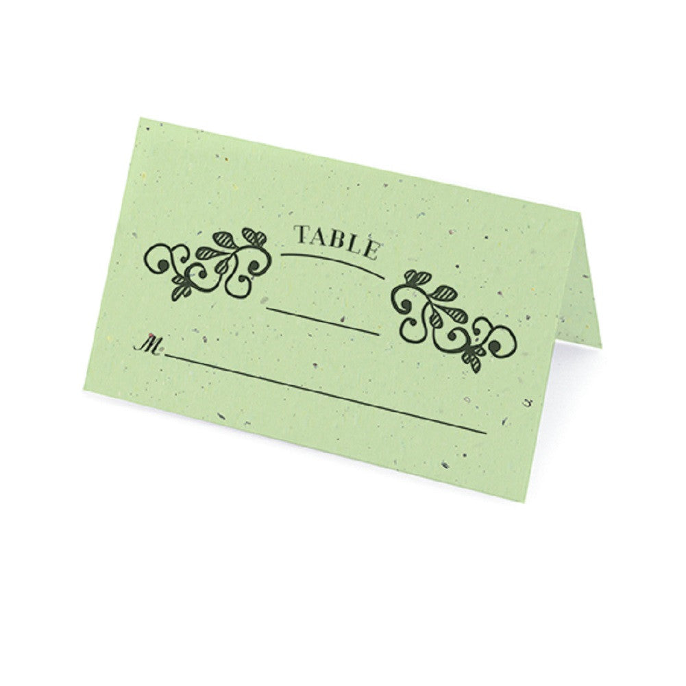 Vintage Plantable Place Cards - Mint - Sophie's Favors and Gifts