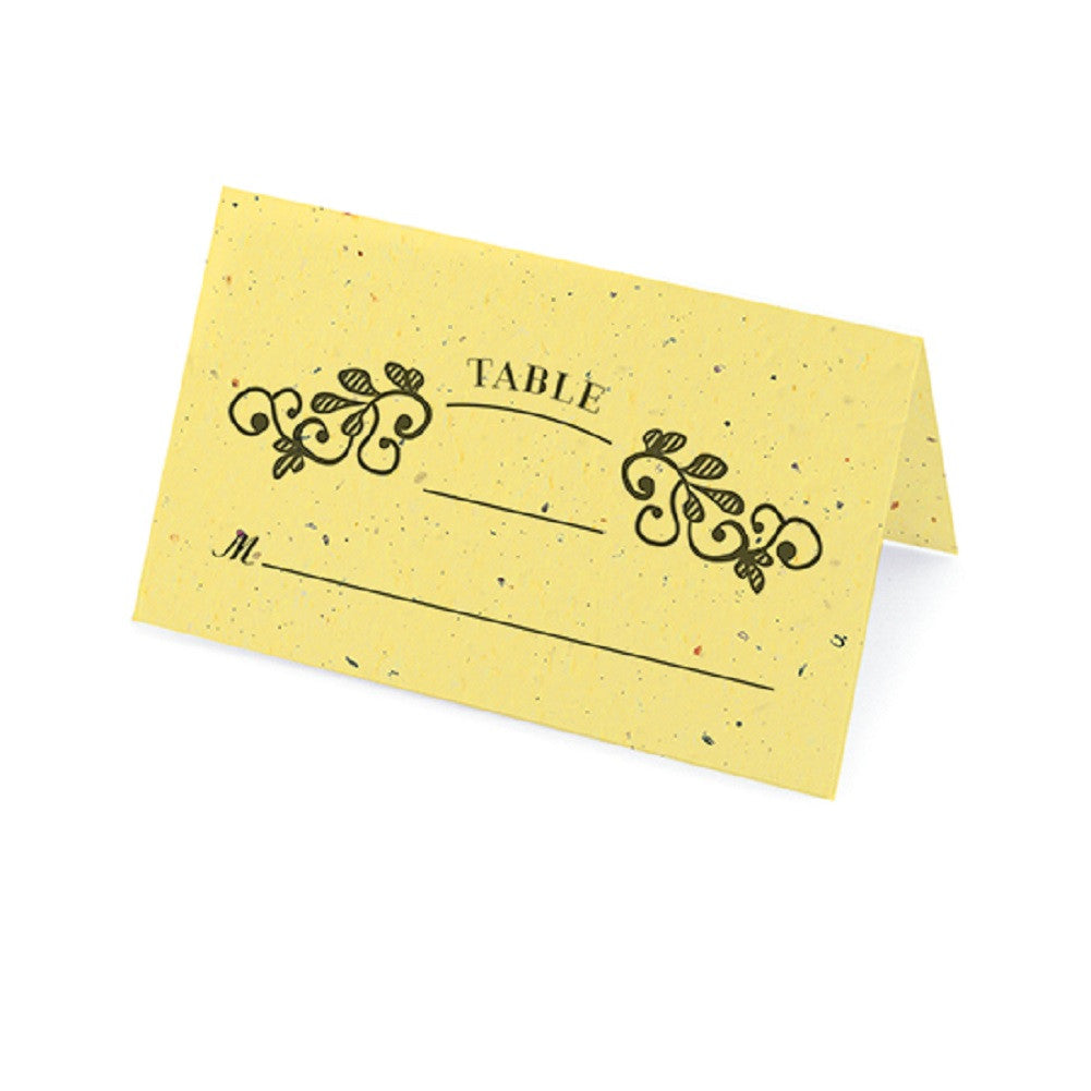 Vintage Plantable Place Cards - Yellow - Sophie's Favors and Gifts