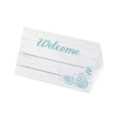 Winter Wonderland Plantable Place Cards - Icy Blue, rustic place cards, winter place cards, winter placecards, blue place cards, Eco-Friendly Favors