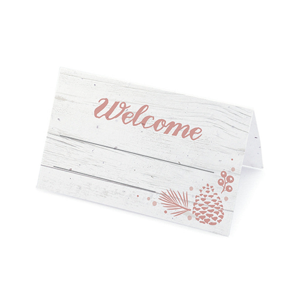 Winter Wonderland Plantable Place Cards - Rose, rustic place cards, winter place cards, winter placecards, pink place cards, Eco-Friendly Favors
