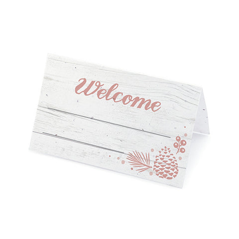 Winter Wonderland Plantable Place Cards - Rose - Sophie's Favors and Gifts