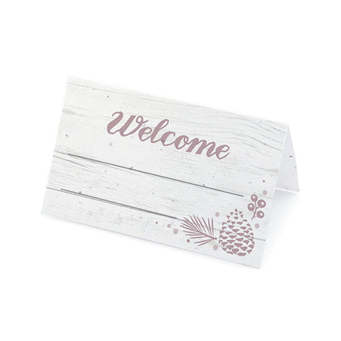 Winter Wonderland Plantable Place Cards - Thistle, rustic place cards, winter place cards, winter placecards, winter wonderland theme, Eco-Friendly Favors
