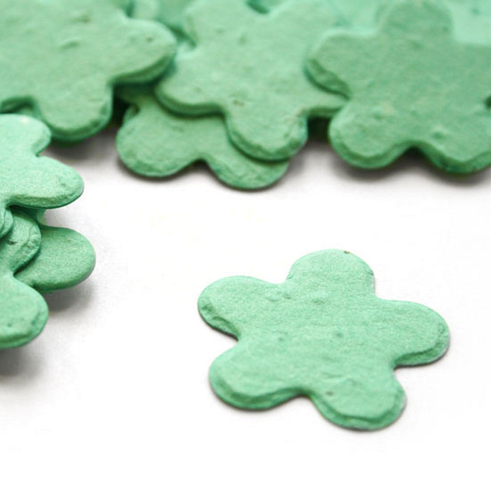 Five Petal Plantable Seed Confetti in Aqua - Sophie's Favors and Gifts