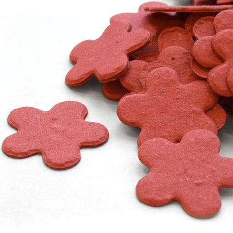 Five Petal Plantable Seed Confetti in Brick Red - Sophie's Favors and Gifts