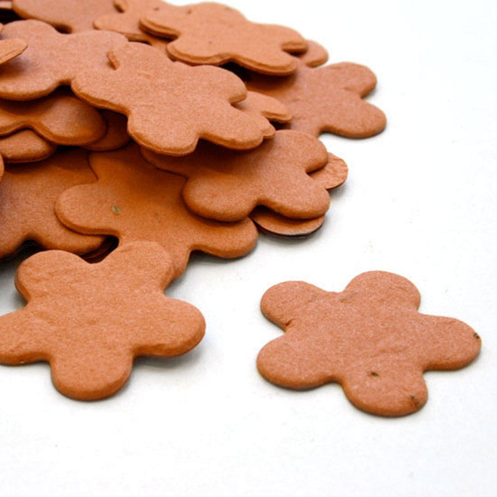 Five Petal Plantable Seed Confetti in Burnt Orange - Sophie's Favors and Gifts