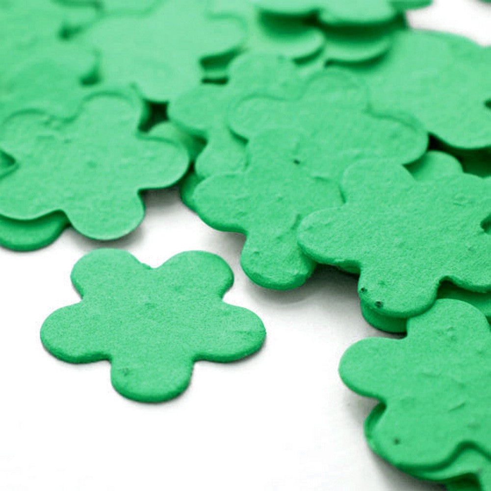 Five Petal Plantable Seed Confetti in Emerald Green - Sophie's Favors and Gifts