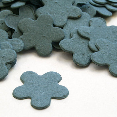 Five Petal Plantable Seed Confetti in French Blue - Sophie's Favors and Gifts