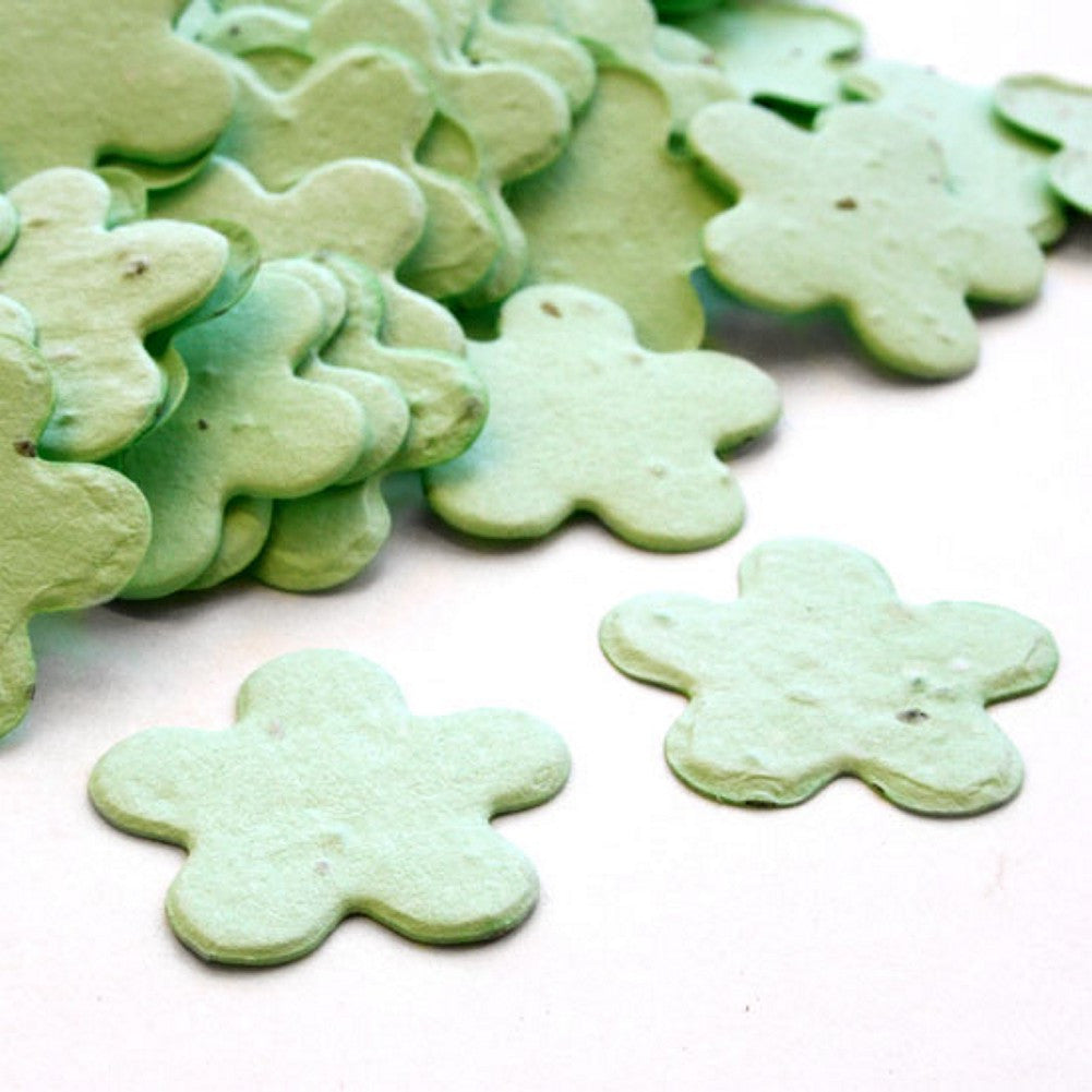 Five Petal Plantable Seed Confetti in Green - Sophie's Favors and Gifts