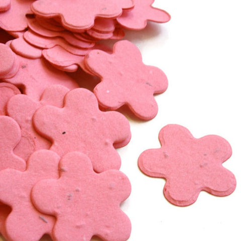 Five Petal Plantable Seed Confetti in Hot Pink, hot pink wedding favors, hot pink theme, seed favors, plantable seed confetti, Eco-Friendly Favors