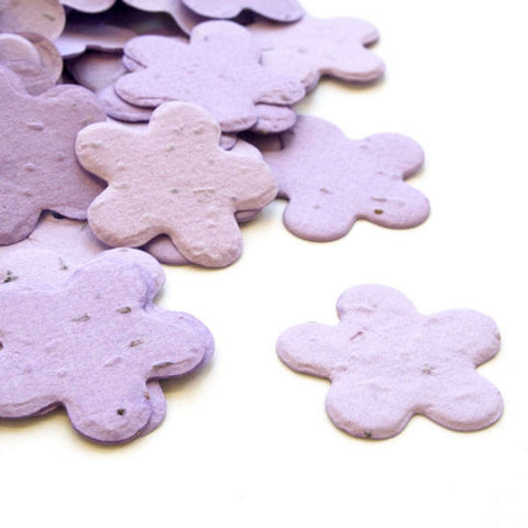 Five Petal Plantable Seed Confetti in Lavender, lavender wedding favors, spring wedding favors, seed favors, plantable seed confetti, Eco-Friendly Favors