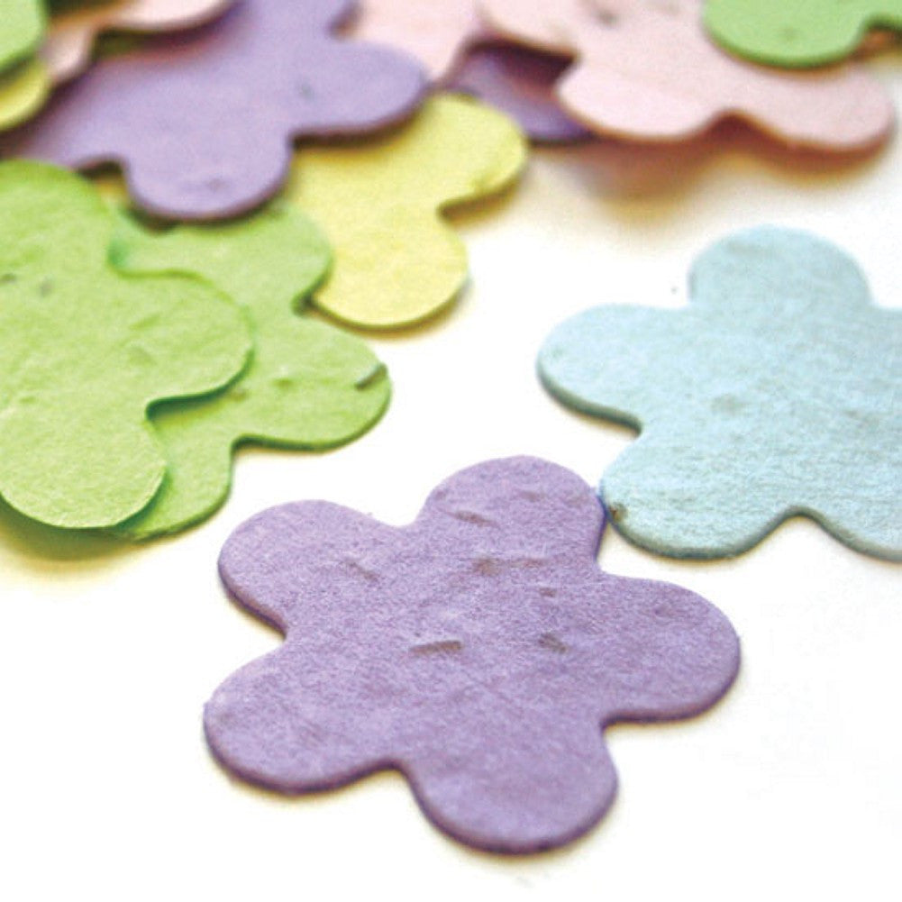 Five Petal Plantable Seed Confetti in Pastel Mix, pastel wedding favors, plantable wedding favors, seed favors, plantable seed confetti, Eco-Friendly Favors