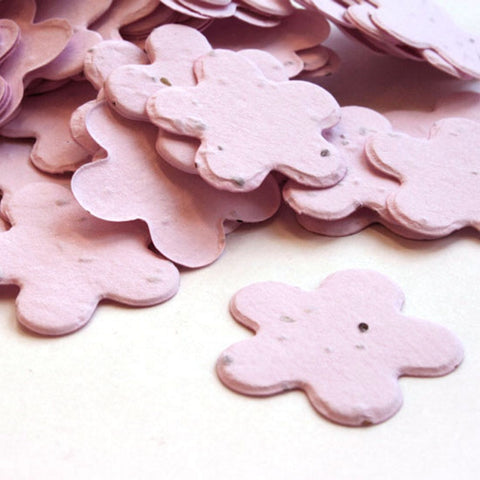 Five Petal Plantable Seed Confetti in Pink - Sophie's Favors and Gifts