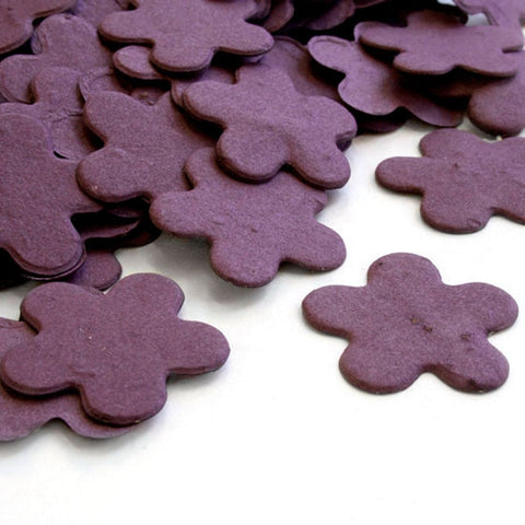 Five Petal Plantable Seed Confetti in Purple - Sophie's Favors and Gifts