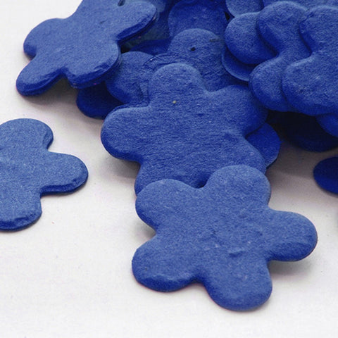 Five Petal Plantable Seed Confetti in Royal Blue - Sophie's Favors and Gifts