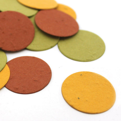 Autumn Circle Plantable Seed Confetti, fall wedding favors, autumn wedding favors, seed favors, plantable seed confetti, Eco-Friendly Favors