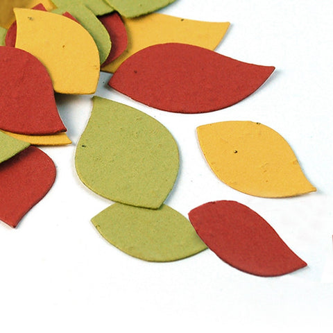 Autumn Leaves Plantable Seed Confetti, fall wedding favors, autumn wedding favors, seed favors, plantable seed confetti, Eco-Friendly Favors