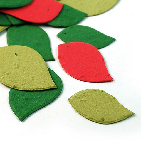 Christmas Leaves Plantable Seed Confetti, holiday party favors, christmas party favors, seed favors, plantable seed confetti, Eco-Friendly Favors