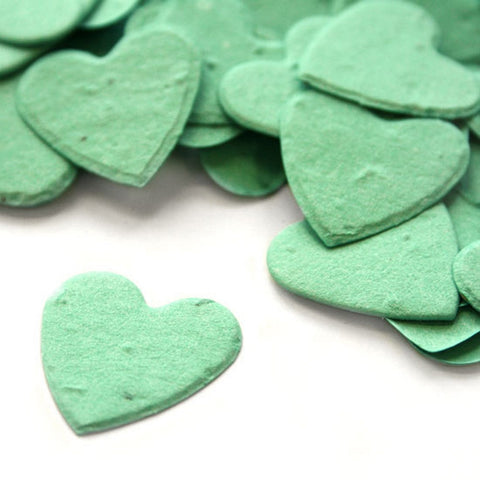 Heart Shaped Plantable Seed Confetti in Aqua - Sophie's Favors and Gifts